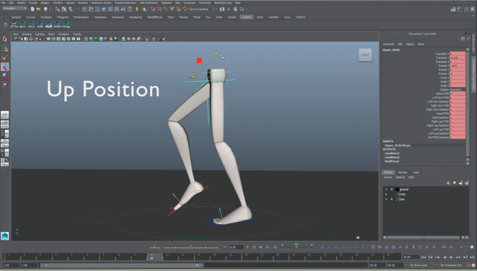 animation walk cycle up pose