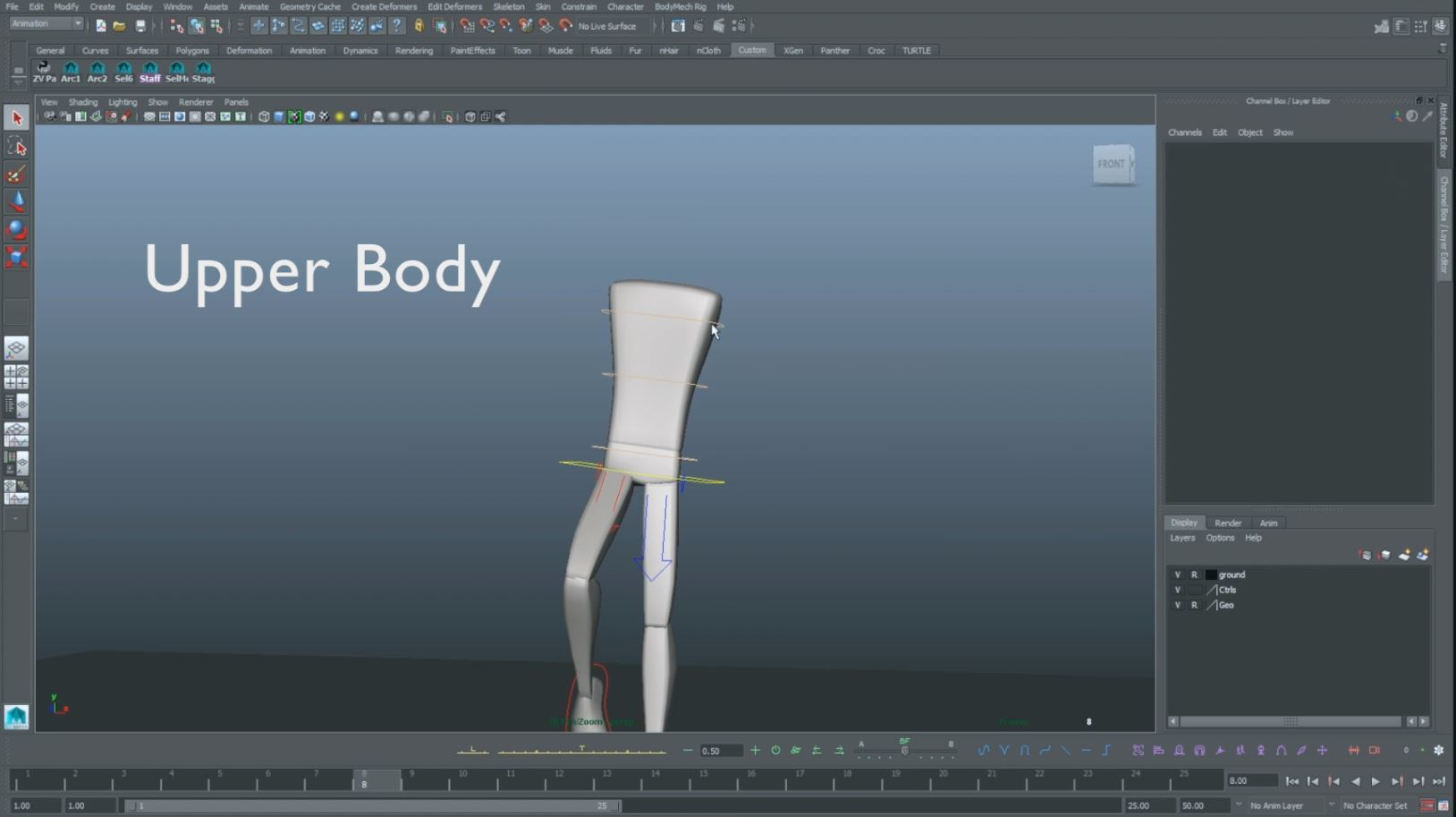 animation walk cycle upper body