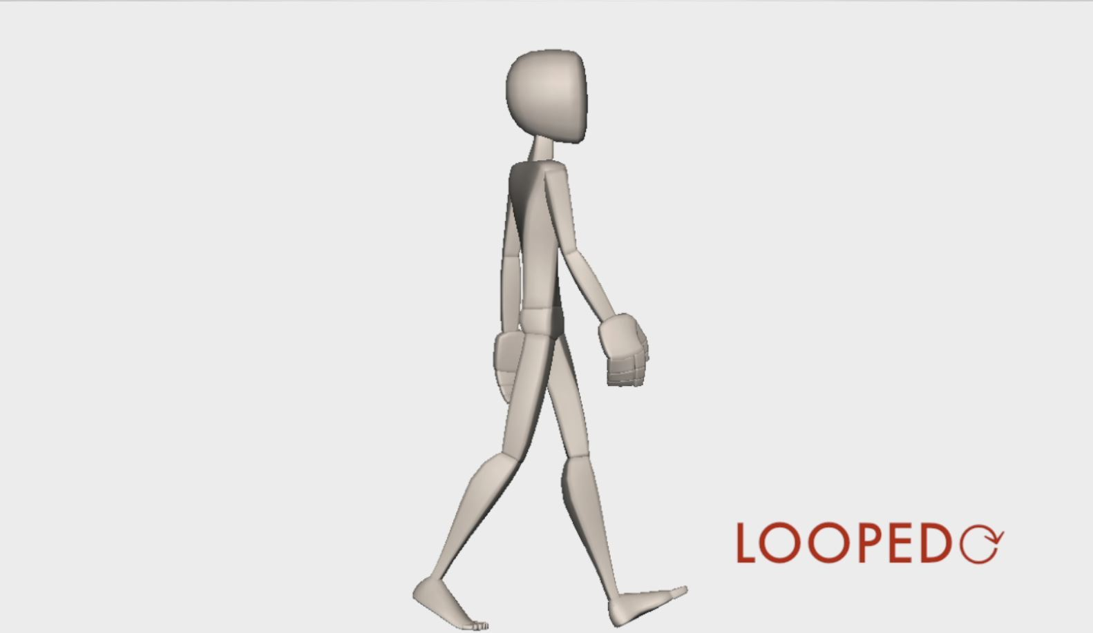 walk cycle animation looped