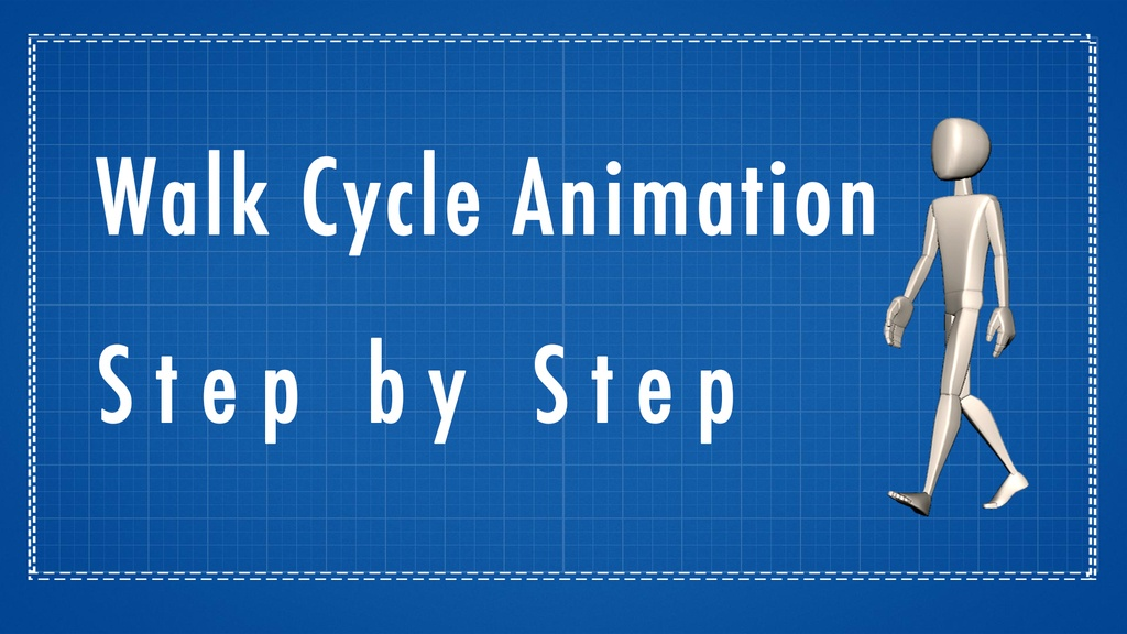 animation walk cycle step by step