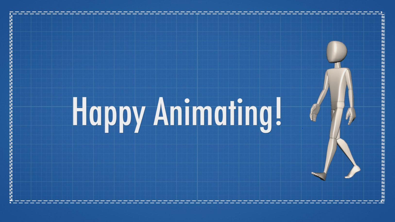 animation walk cycle happy animating