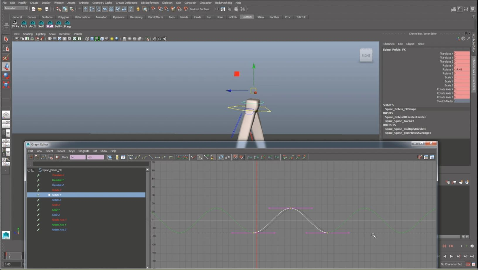 animation walk cycle offsetting hips