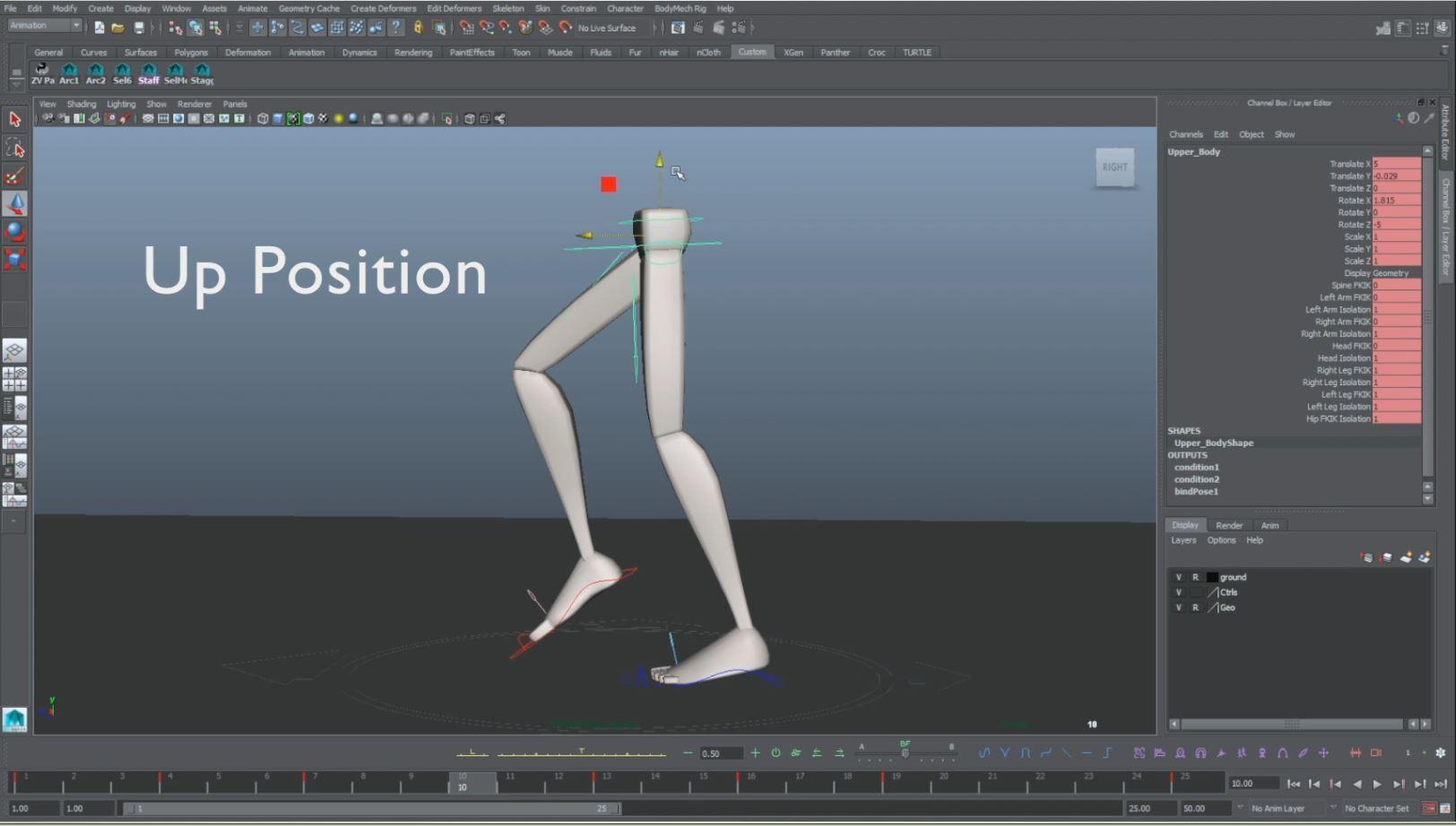 animation walk cycle up pose