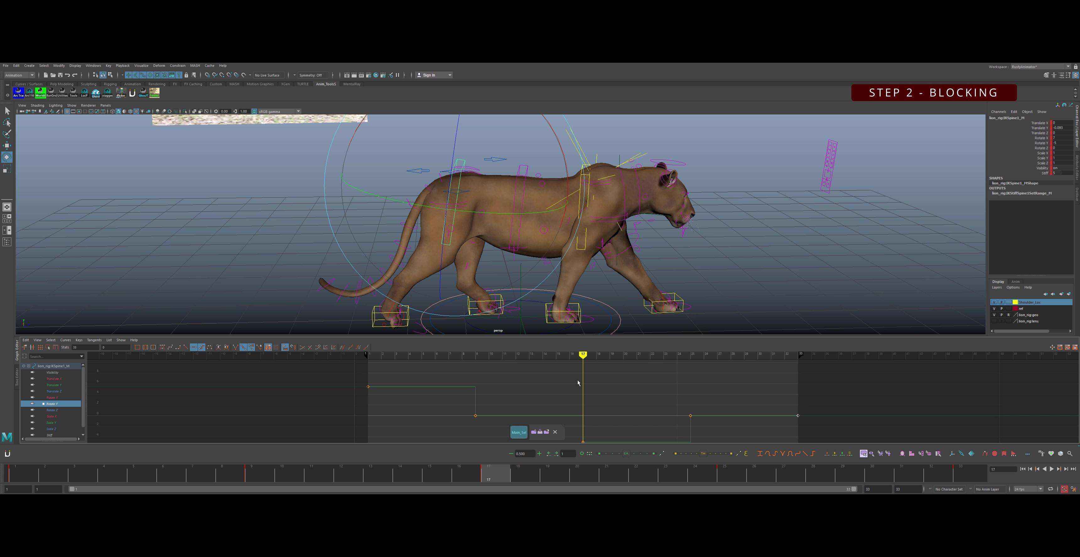 Cat-Walk-Cycle-Animation-Tutorial-Step 2