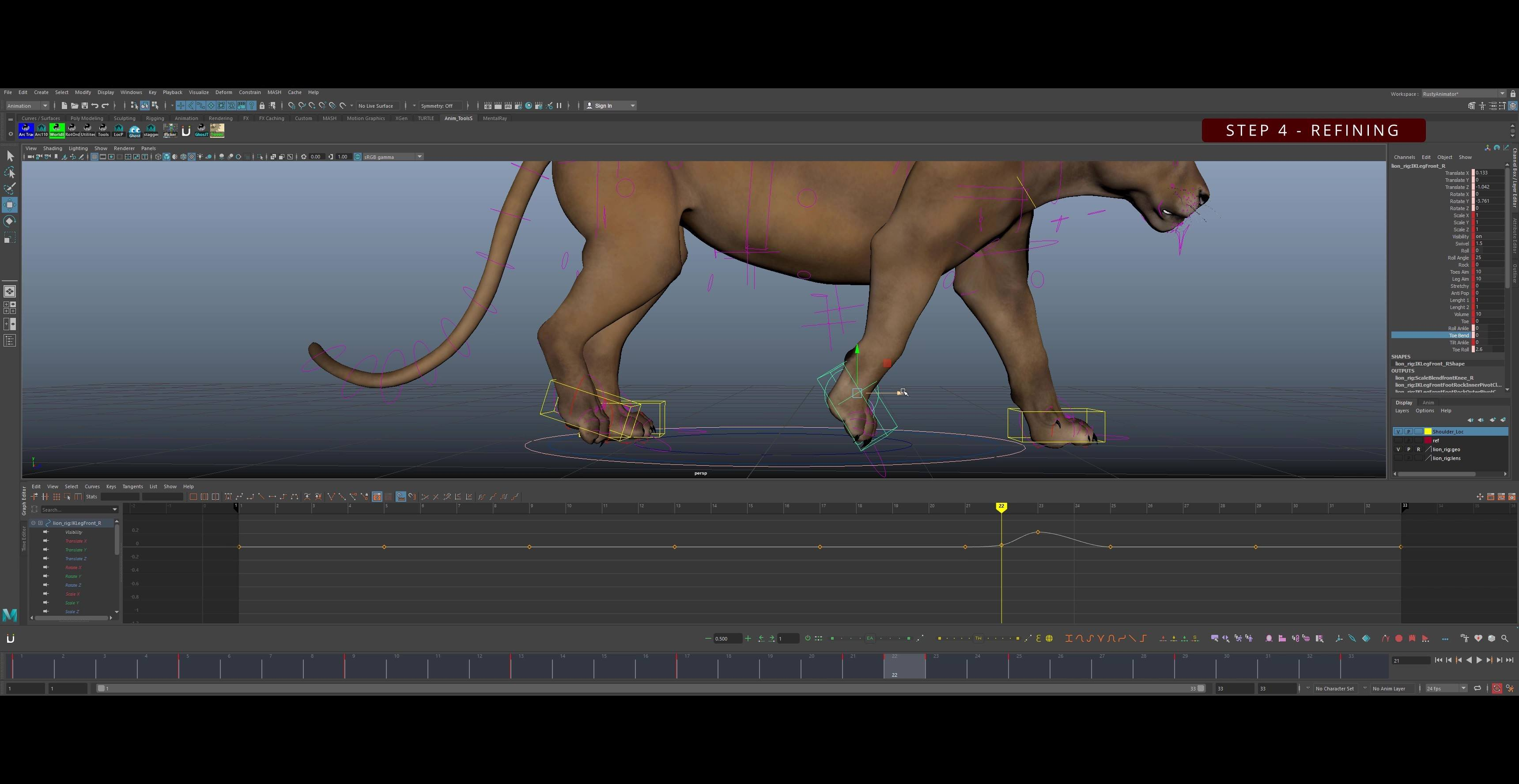 Cat-Walk-Cycle-Animation-Tutorial-Step 4