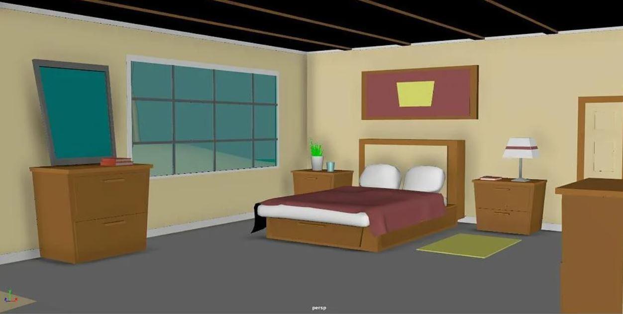 Free-Maya-Rigs-Bedroom